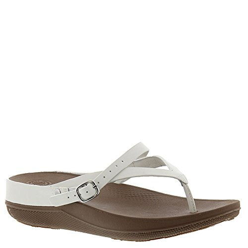 4a392241a79bc2 FitFlop Women s Flip Leather Sandals Urban White Sandal - Buy Online in  UAE.