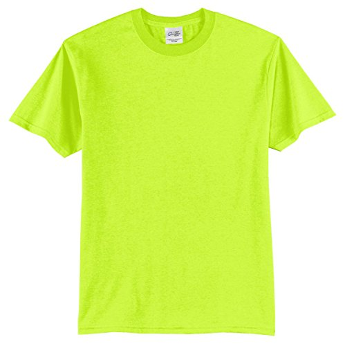Port & Company Mens 50/50 Cotton/Poly T-Shirt PC55 -Safety Green 6XL ()