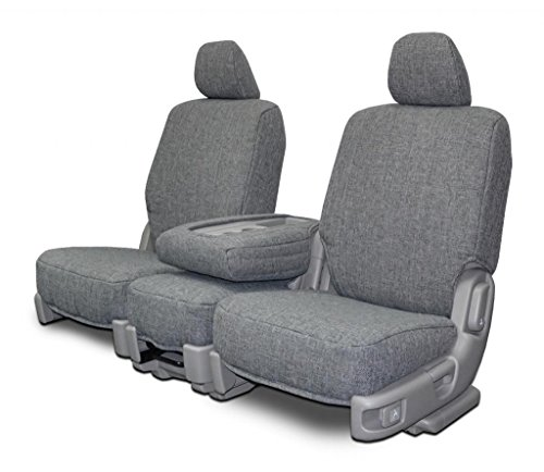 Custom Seat Covers for Dodge Mega-Cab Front Low Back Seats - Gray Tweed (2006 Dodge Mega Ram Cab)