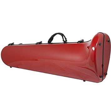 Ortola FTB-01 - Estuche fiber glass trombon bajo, color rojo ...