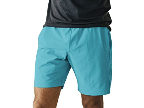 OLIVERS Apparel, Mens Water Repellant, 4 Way Stretch, All Over Gym Short, Slate, XXS