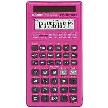 Casio fx-260 SOLAR Scientific Calculator, Pink