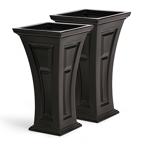 (FCMP Outdoor HP-Bk Heritage (2 Pack) Planter, Black)