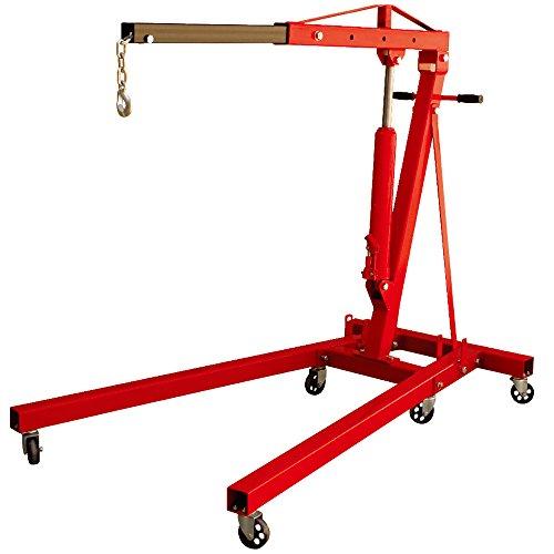 Torin Big Red Steel Engine Hoist / Shop Crane with Foldable Frame, 2 Ton (4,000 lb) Capacity