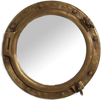 dp mirror hole decor brass quot mount nautical vintage boat port wall porthole