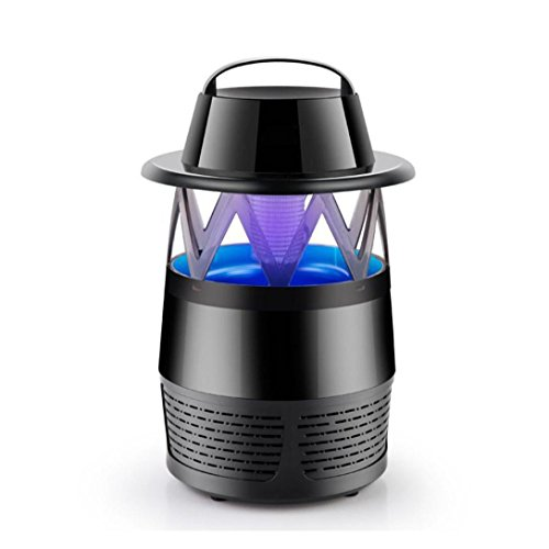 Stheanoo Electric Mosquito Zapper Non-Chemical, Non-toxic and Non-Radiative Insect Fly Moth Killer Summer Indoor Pest Control (Black) by Stheanoo Zapper