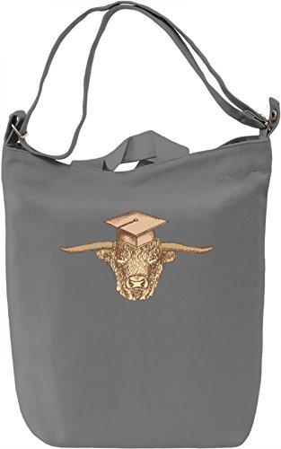 Bull Borsa Giornaliera Canvas Canvas Day Bag  100% Premium Cotton Canvas  DTG Printing 