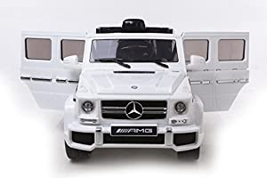 2015 new design kids ride on 12v twin motors mercedes g63 amg suv rechargable electric car parental remote control open able doors led day lights 2