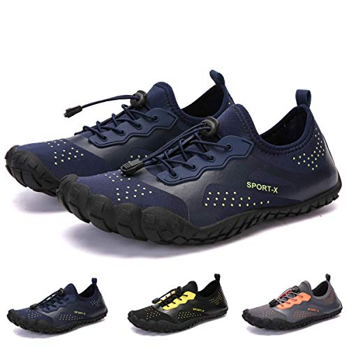 bridawn Men Women Quick Dry Barefoot Hiking Water Shoes for Swim Surf Exercise (Best Water Shoes For Swimming)
