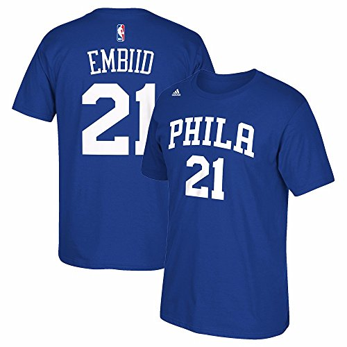 Philadelphia 76ers NBA Adidas Men Blue Official Player Name & Number T-Shirt – DiZiSports Store