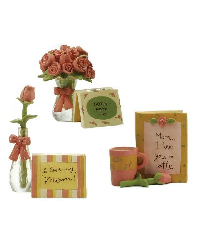 Blossom Bucket Mother's Day Pink Roses and Cards, Set of 3