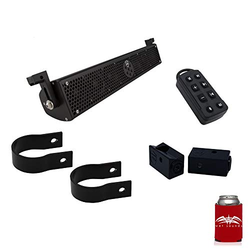Wet Sounds Stealth 6 Ultra HD Black + UTV Mounting Kit, Slider Bracket and Round 2