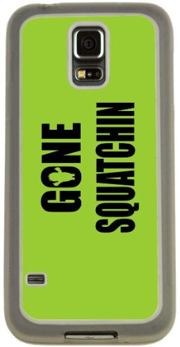 Rikki Knight Gone Squatchin on Lime Green Design Case (Clear TPU) for Samsung Galaxy S5