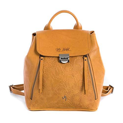 Amazon.com: Velez Women Vintage Style Laptop Bookbag Genuine Colombian Leather Backpack   Bolso de Cuero Mujer Trendy College Real Original Bag Morrales ...