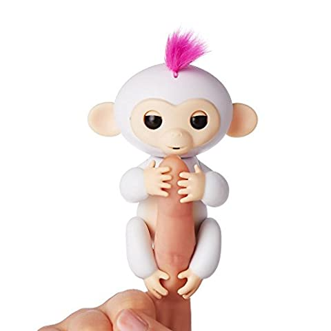 Fingerlings - Interactive Baby Monkey - Sophie (White with Pink Hair) By WowWee - Toys and Games
