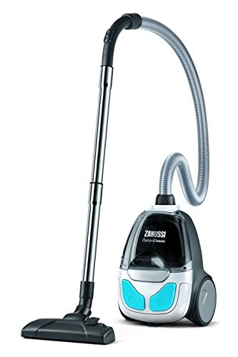Zanussi ZAN1930UEL Pet Cyclone Classic Bagless Vacuum Cleaner, 800 W - Ice White/Blue