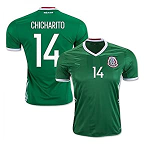 Mexico Youth Jersey Chicharito #14 Kids Home Jersey + Shorts + Chicharito #14 Drawstring Backpack bag World Cup Futbol Jersey for Boys Football Fans