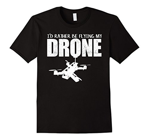41umkjUKfNL Mens Funny Drone Pilot T-Shirt for RC Quadcopter Fans Medium Black