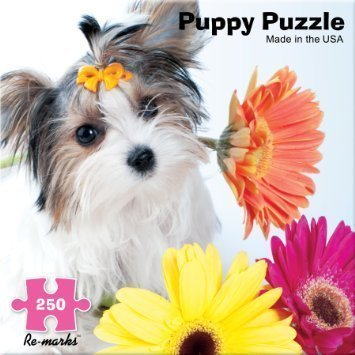 Jigsaw Puzzle 250 Pieces 11 inches x 14 inches Yorkie Puppy with Daisy (14 Inch Piece)