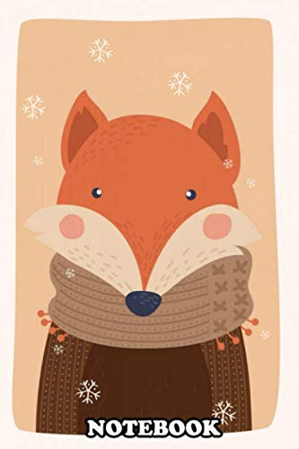 Notebook: Cute Winter Little Animal Poster With A Handmade Illust , Journal for Writing, College Ruled Size 6' x 9', 110 Pages