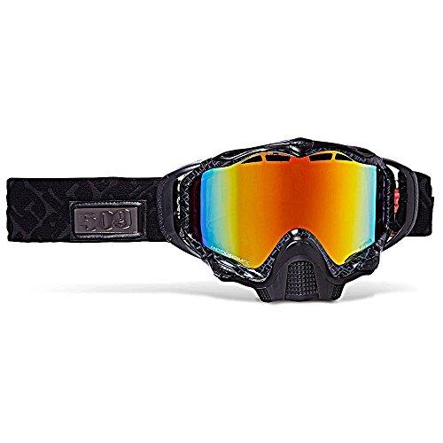 (509 Sinister X5 Snow Goggles - Black Fire - Orange to Dark Blue)