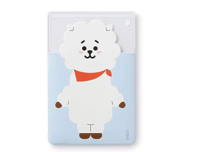 cheaper 1ac05 475c9 Amazon.com: [BT21] Clear 3-Pocket PVC Character Card Case/RJ: Clothing