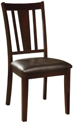 Furniture of America Priscilla Padded Leatherette Side Chair, Espresso Finish, Set of 2