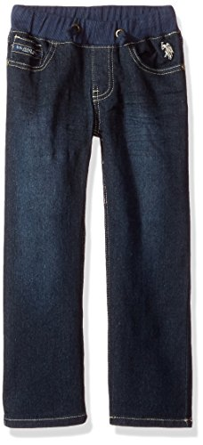 U.S. Polo Assn. Little Boys' Denim Jean, Dark Crinkle in, - Denim Crinkle
