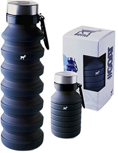 Goat Travel Water Bottle - Collapsible Water Bottle