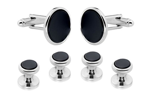 GENUINE ONYX CUFFLINKS AND STUDS !!MANUFACTURERS DIRECT PRICING!!
