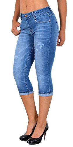 Grande J374 J374 Pantacourt Femme Claire ESRA Capri Jean pour Taille bleu Femmes Pantalon Jeans dechir qPTwwtZ