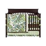 Paisley Splash 4 Piece Crib Bedding Set Color: Lime