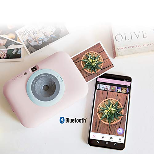 SFXYJ Instant Photo Printer,Mini Portable Pocket Color Wireless+Camera Function,Pink by SFXYJ (Image #5)