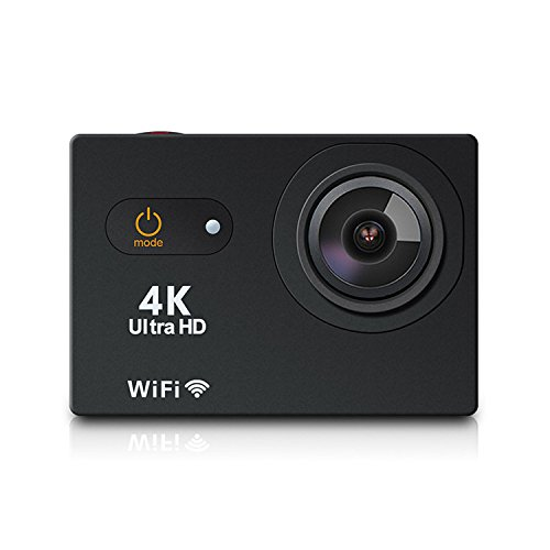 SHISHUO 2 Inch Touch Screen Action Camera S350 4K WiFi Waterproof Sports Cam 12MP 170 Degree Wide Angle and Accessories Kits(16 GB Micro SD Card included) SHISHUO