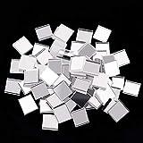 Self-Adhesive Mini Square Glass, Decorative Craft