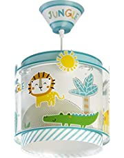 Dalber Lámpara Infantil de Techo My Little Animales Jungla, 60 W, Multicolor