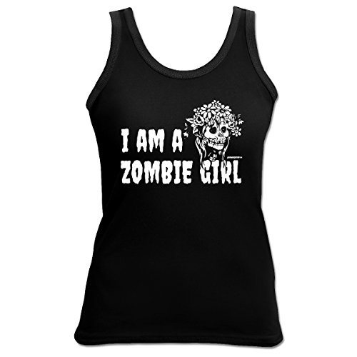 Damen Tank Top Shirt Halloween Zombie Girl 4 Girls Beach Tanktop Geschenk geil bedruckt Goodman Design