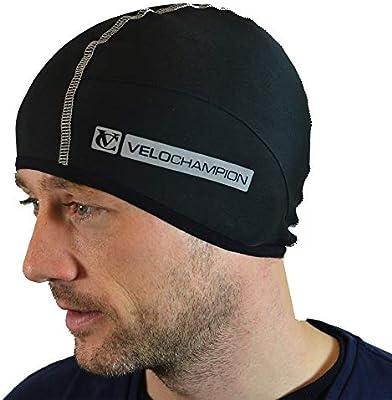 VeloChampion Gorro Térmico para Casco de Bicicleta – Gorro Térmico  Resistente al Viento para Llevar Bajo el Casco - Ajustable - Ideal como  Gorro para Correr ... 35f2a7c9d49