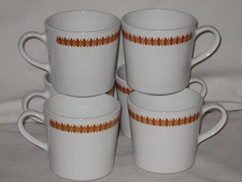 corelle dinnerware set orange - 2