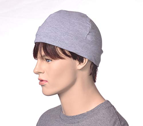 Artisan Skull Cap Light Gray 100% Cotton Poor Poet Hat