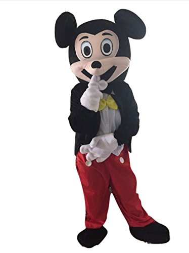 Mickey Mascot Costumes (Mickey Mouse Mascot Costume Adult Size For Birthday Boy or Girl Party Event Halloween)