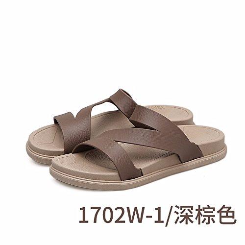 nuove estate pantofole spiaggia inferiore spessore estate all' aperto trascinare Lady a LIUXINDA pantofole Brown versione Marea scarpe moda antiscivolo prova XZ coreana wzYqzO8IT