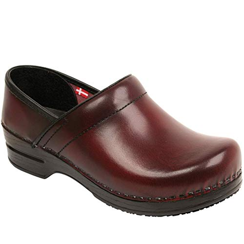 - Sanita Women's Professional SMARTSTEP Addison Cabrio Leather (Factory 2nd) (Color: Bordeaux/Size: 37 EU)