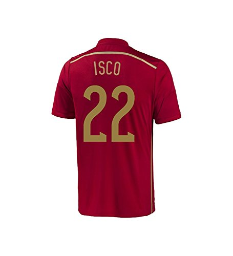 adidas ISCO #22 Spain Home Jersey World Cup 2014 Youth (YS) Red
