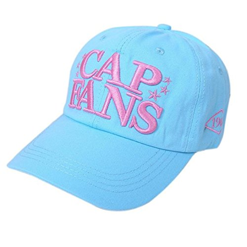 Unisex Cotton Twill Snapback Colorful Baseball cap Blue - 4