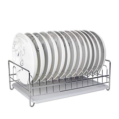 DQMSB Perchero de Cocina de una Sola Capa, Cesta con Fugas de Estante IKEA 304 despensa de Acero Inoxidable con Cesta de...