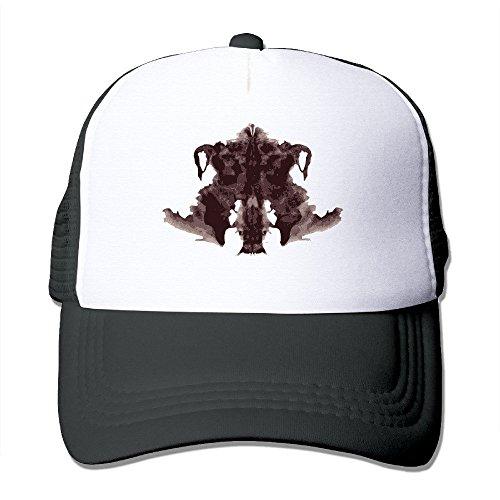Sunscreen Trucker Hat Rorschach-Test Unisex Mesh Cap Black (Rorschach Hat)