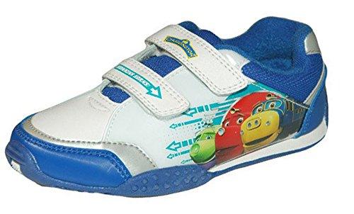 Chuggington Jungen honking Schuhe Sportschuhe mit Klettverschluss Weiß