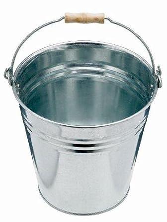 Secchio di metallo galvanizzato da 10 litri - uso interno ed esterno Fineway.