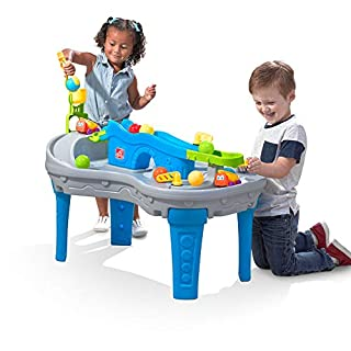 Step2 Ball Buddies Truckin' & Rollin' Play Table | STEM & Ball Toy for Toddlers | Kids Play Table with 12 Accessory Toys Included